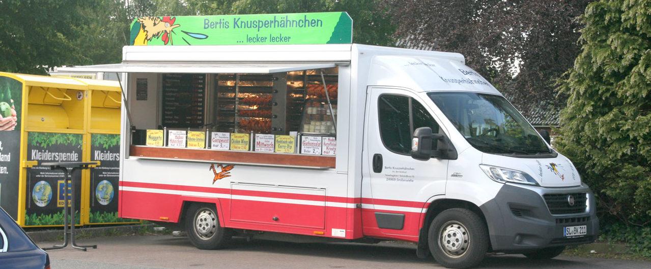 Hähnchenwagen offen